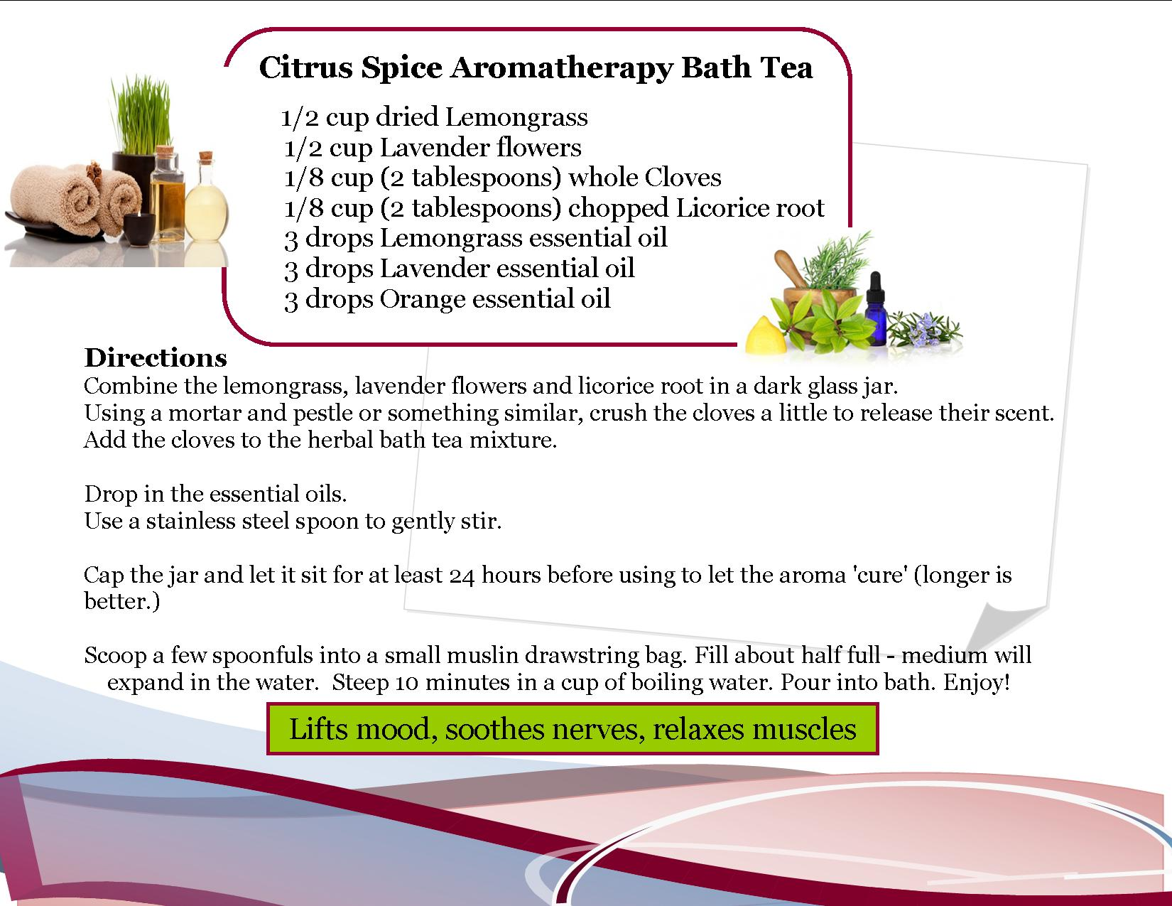 Aromatherapy Bath Tea 3